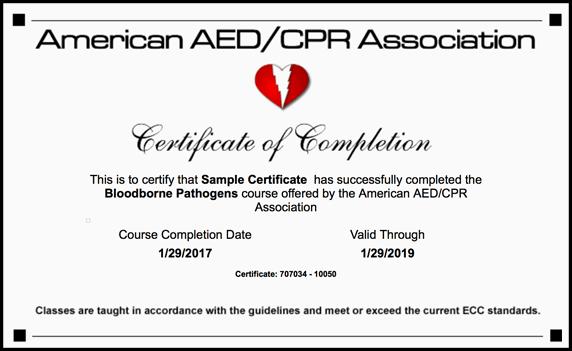 osha bloodborne pathogens certification class