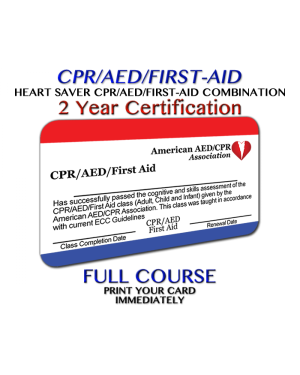 AEDCPR CPR/AED/First-Aid - Online Courses