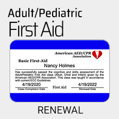 First Aid Renewal Course