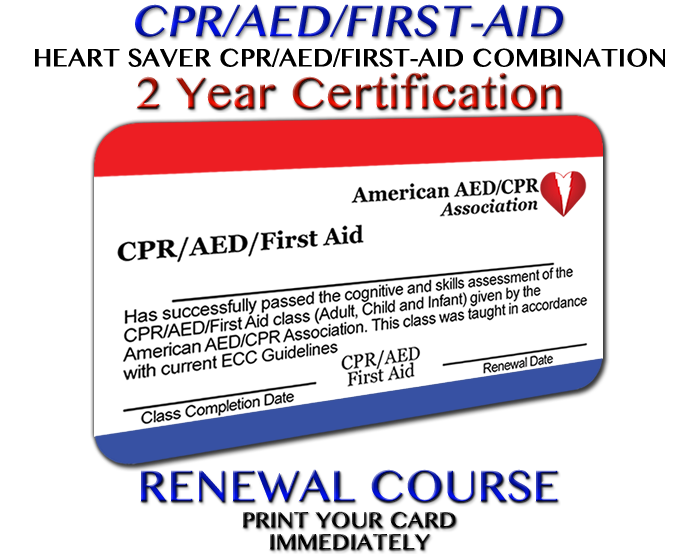 AEDCPR CPR/AED/First Aid Renewal