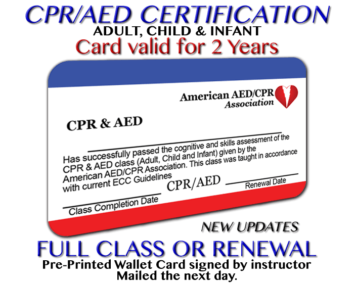 Aedcpr Cpraed Certification Class