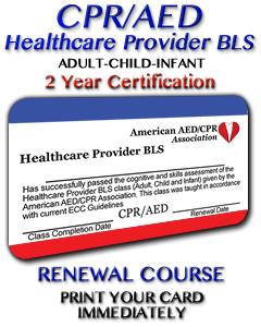 Healthcare Provider BLS Renewal Course