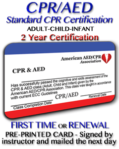 CPR/AED Certification Class