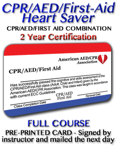 CPR/AED/First-Aid Class with Instructor signed card