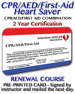 CPR/AED/First Aid Renewal - Pre-printed card