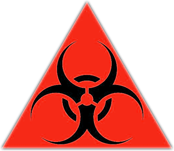 Use caution in areas that display the biohazard symbol. Bloodborne Pathogens may be present