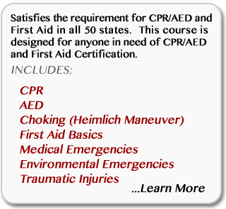 Learn more about online CPR/AED/First-Aid combination certification