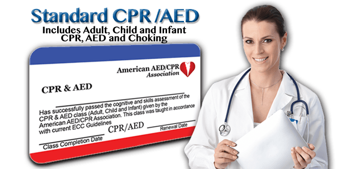 Basic CPR/AED Class. Includes adult, child and infant cpr, aed and choking. 2 year certification card - First time or renewal