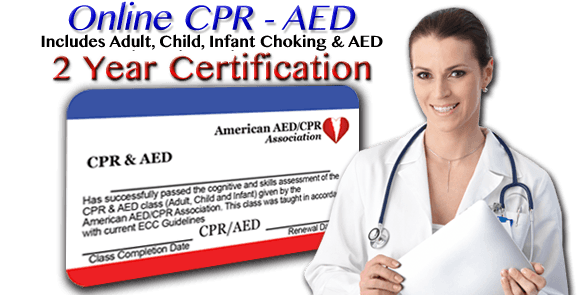 2 Year Certification - Infant CPR Training - Begin CPR