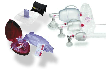 Protect yourself by using a barrier device such as a mask with a one-way valve or bag valve mask. Also use protective gloves.