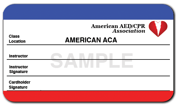Sample CPR Card Back