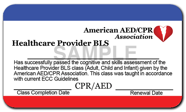 Sample CPR Card Front