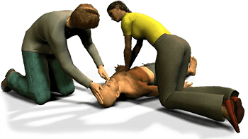 Two rescuer CPR is more efficient and most likely what you will be using in a hospital situation.